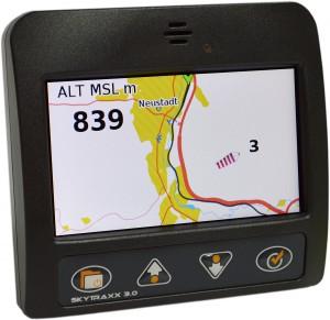 Skytraxx 3.0 anthrazit - Kartendarstellung OpenStreetMap mit Windanzeiger